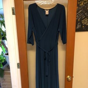 Love Squared Blue Plus Sized ankle length dress.